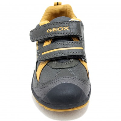 Geox Savage - Leather Sport Shoe with Two Velcro Closures Size 34 ... 0dabcbb460d