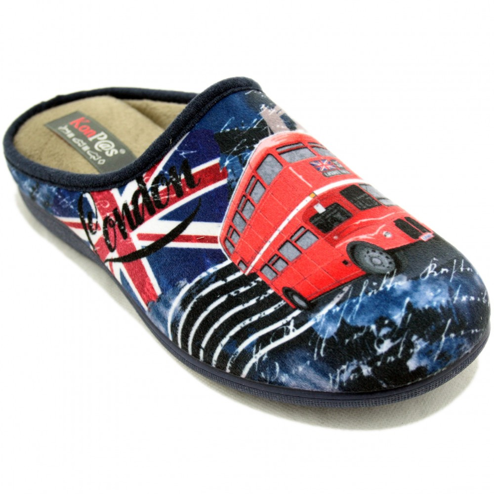 b626915d1f7d KonPas 589 - Navy Blue Slippers with London Red Buses Size 39 ...