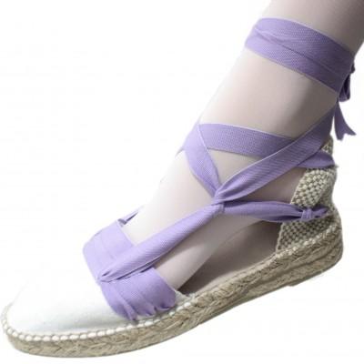 Mid Heel Espadrilles Tres Vetes Light Lilac