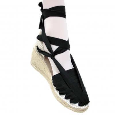 Heel Espadrilles Pintxo or Set Vetes Black
