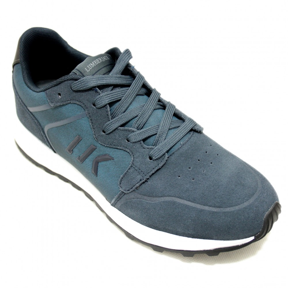 01542e234190 Lumberjack Path - Sneakers for Young Men Blue Gray Lace-Up Size ...