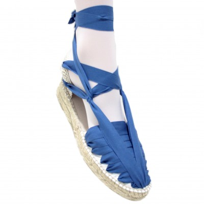 Mid Heel Espadrilles Pintxo or Set Vetes Electric Blue