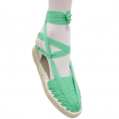 Mid Heel Espadrilles Pintxo or Set Vetes Light Green