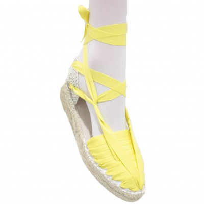 Mid Heel Espadrilles Pintxo or Set Vetes Yellow