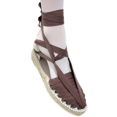 Mid Heel Espadrilles Pintxo or Set Vetes Brown