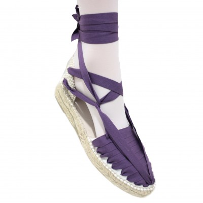 Mid Heel Espadrilles Pintxo or Set Vetes Purple
