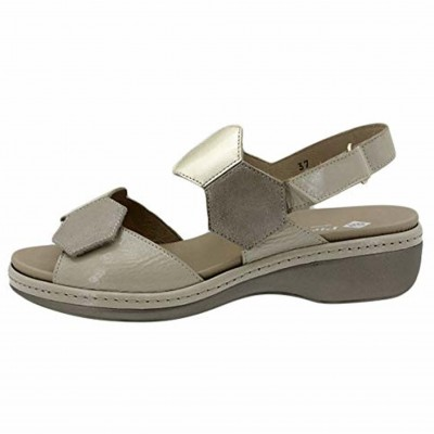 Pie Santo 200822 - Women's Sandals with Removable Insole and Velcro Adjustments