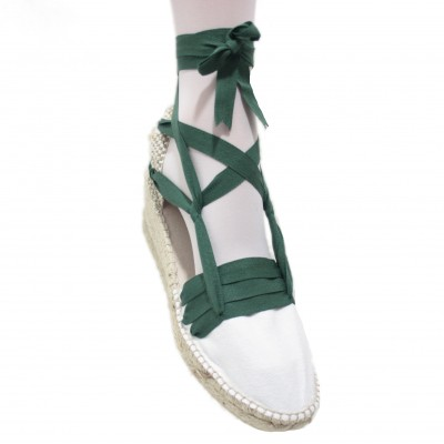 Espadrilles Wedge High Tres Vetes Dark Green