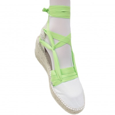 copy of Espadrilles Wedge High Tres Vetes Lime Green