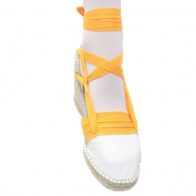 Espadrilles Wedge High Tres Vetes Light Orange