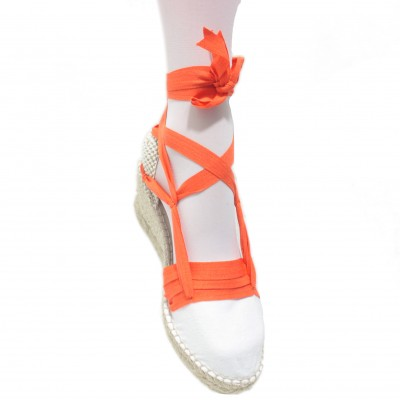 Espadrilles Wedge High Tres Vetes Orange