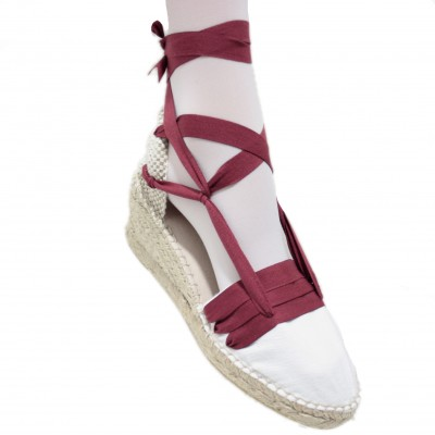 Espadrilles Wedge High Tres Vetes Maroon
