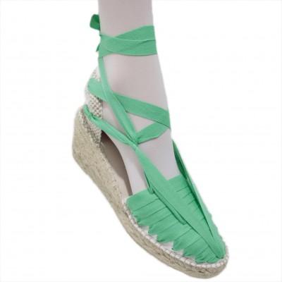 Heel Espadrilles Pintxo or Set Vetes Light Green