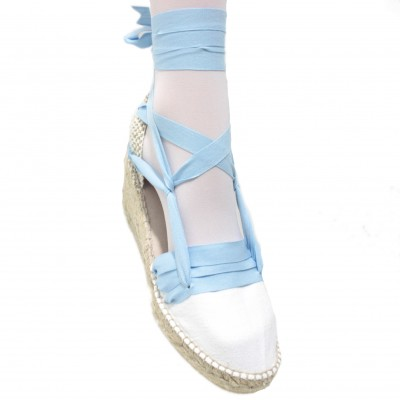 Espadrilles Wedge High Tres Vetes Light Blue