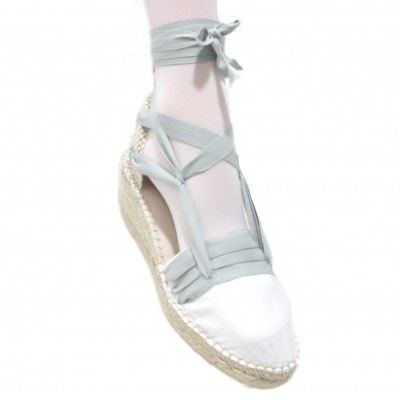 Espadrilles Wedge High Tres Vetes Light Grey