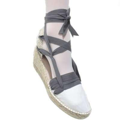 Espadrilles Wedge High Tres Vetes Grey