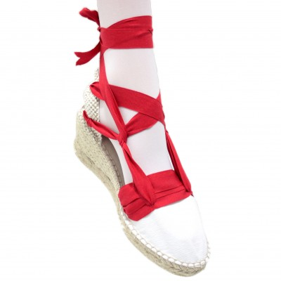 Espadrille Wedge High Tres Vetes Red