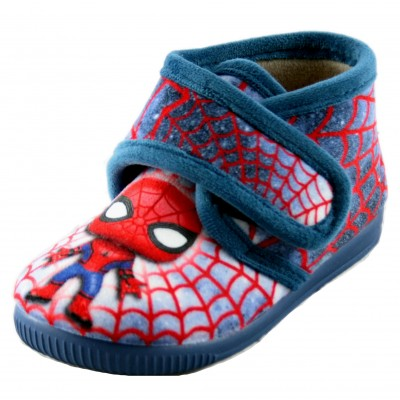 Vulcabicha 1074 - Spiderman Children's House Slippers Closed with Velcro