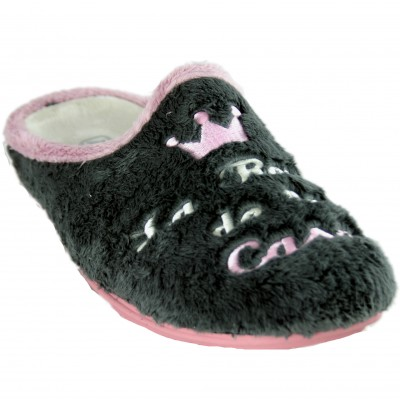 KonPas 710-1 - House Slippers for Girl Woman of The Queen of the House