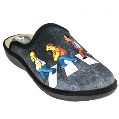Salvi Confort 09T-353 - House Slippers for Boy from the Simpsons with Homer, Barney, Carl and Lenny
