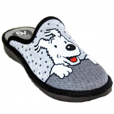 Salvi Confort 01T-361- Tintin Snowy Dog Milú House Slippers for Women
