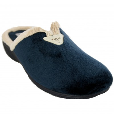 Vulcabicha 2739 - Woman House Slippers with Smooth Heel Navy Blue