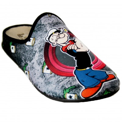 Vulcabicha 1835 - Boy Youth House Slippers Popeye and Brutus