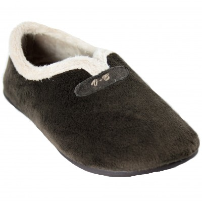Vulcabicha 4854 - Brown Hairy Soft Closed House Slippers
