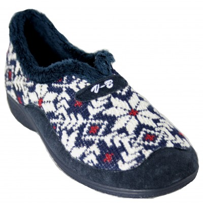 Vulcabicha 4744 - Slippers For Home Closed With Wedge Christmas Hinvernales Cross Stitch