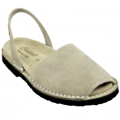 Castell 1059 Vecco 688 - Avarcas Woman and Man Open Flat Men with Soft Beig Anatomical Sole