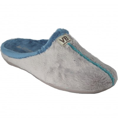 Vulcabicha 4311 Blue - Comfortable and Simple Soft Women's Slippers in Pearl Color with Blue Lining