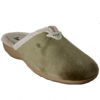 Vulcabicha 2739 - Woman House Slippers with Smooth Heel Tan Brown