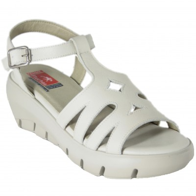Fluchos LIMA F0840 - Sandals With Cunya And Braided Leather Platform With Buckle