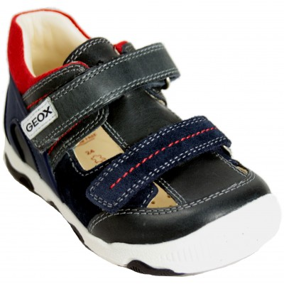 Geox Balu B150PA - Closed Sandals With Removable Insole Rigid Butt And Velcro