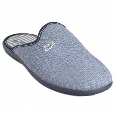 Vulcabicha 4626 - Men's Summer Slippers Cotton Denim Blue With Crocodile