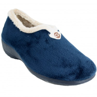 Cabrera 5070 - Smooth Wedge Closed Shoes Navy Blue