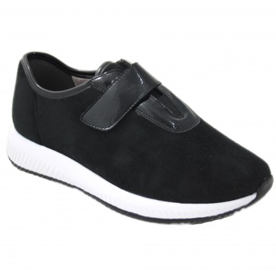 Doctor Cutillas 87202 - Ultralight Velcro Black and Bordeaux Lined Sport Shoes