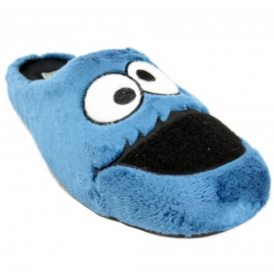 Marpen 606IV20 - Cookie Monster Soft Slippers With Removable Insole