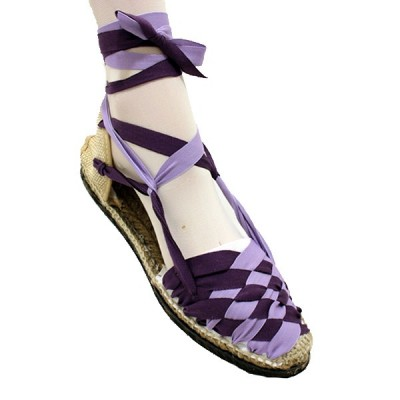 Espadrilles Plaited Lilac Dark and Light Lilac