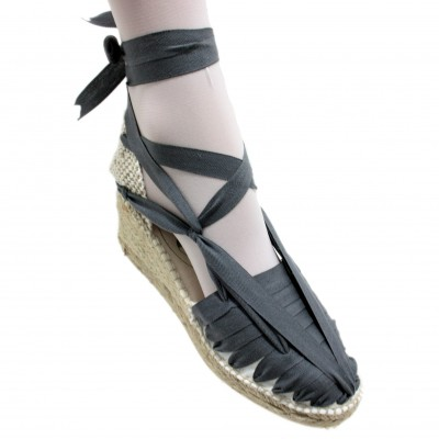Espadrille Wedge High Pintxo o Set Vetes Dark Grey
