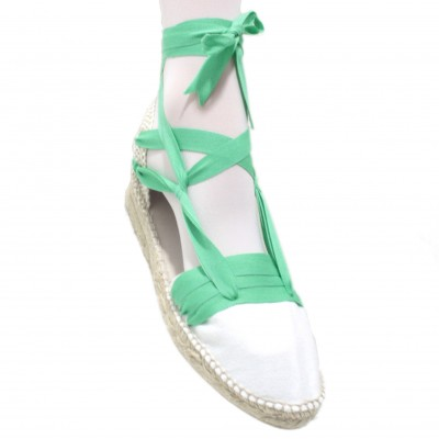 Mid Heel Espadrilles Tres Vetes Light Green