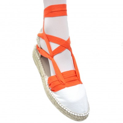 Mid Heel Espadrilles Tres Vetes Orange