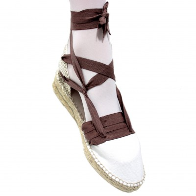 Mid Heel Espadrilles Tres Vetes Dark Brown