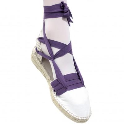 Mid Heel Espadrilles Tres Vetes Lilac