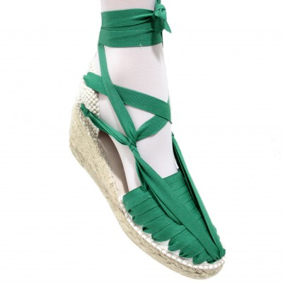 Heel Espadrilles Pintxo or Set Vetes Green