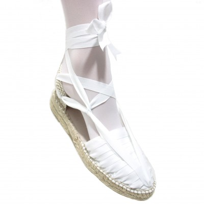 Mid Heel Espadrilles Pintxo or Set Vetes White