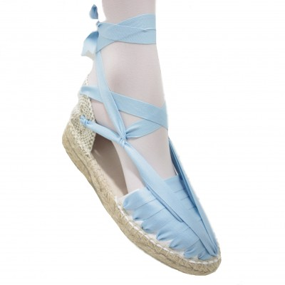 Mid Heel Espadrilles Pintxo or Set Vetes Light Blue