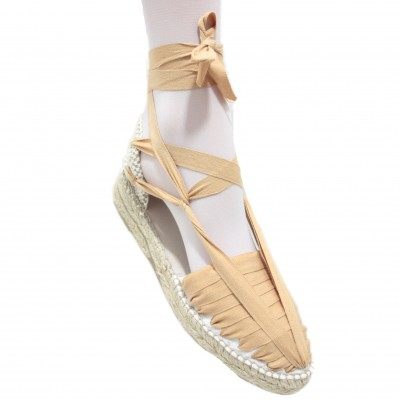 Mid Heel Espadrilles Pintxo or Set Vetes Light Brown