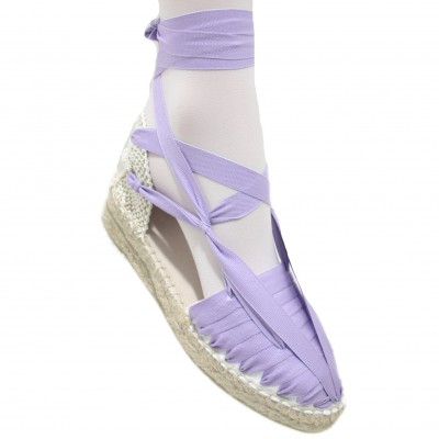 Mid Heel Espadrilles Pintxo or Set Vetes Light Purple