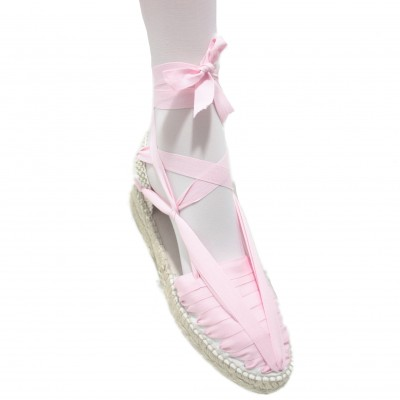 Mid Heel Espadrilles Pintxo or Set Vetes Light Pink